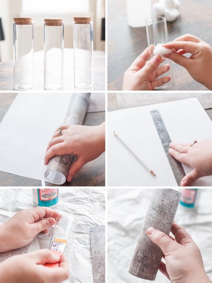 cómo hacer un florero DIY en estilo rústico paso a paso, decoracion mesa original hecha a mano