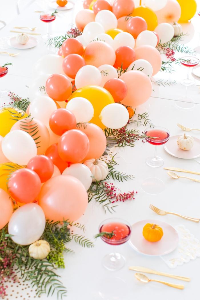 decoración de mesas con globos coloridos, como hacer un centro de mesa para fiestas y cumpleaños