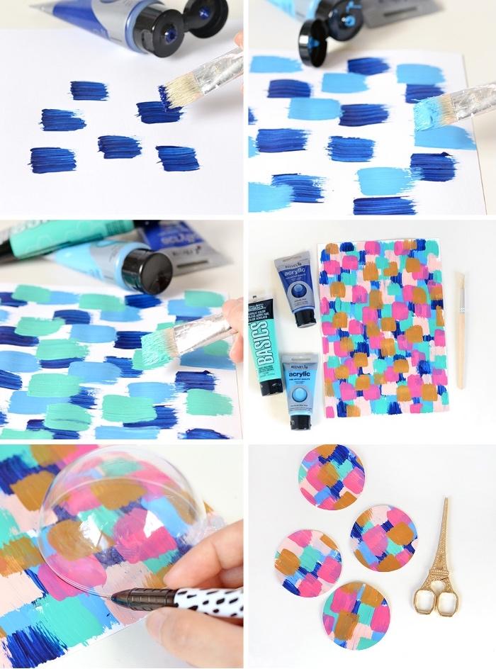 originales ideas de decoracion de mesas, bolas coloridas para en centro de mesa hecho a mano