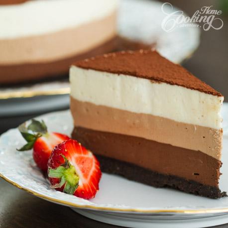 cuáles son las mejores recetas de tartas de tres chocolates, imagines de tartas caseras a las tres chocolates