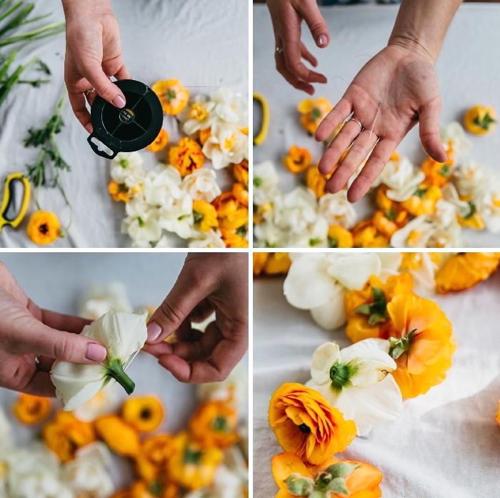 decorar la mesa con flores paso a paso, decoracion centro de mesa original, tutorial en fotos