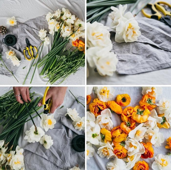 como decorar la mesa con flores, decoracion centro de mesa paso a paso, fotos con tutoriales