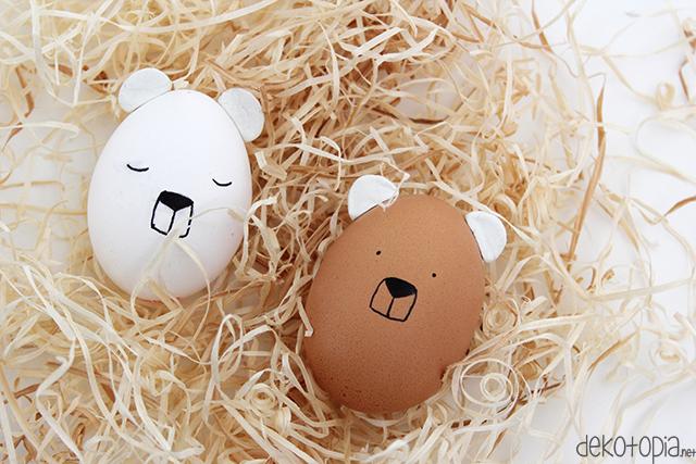 preciosas ideas de como decorar huevos de pascua, manualidades infantiles originales paso a paso