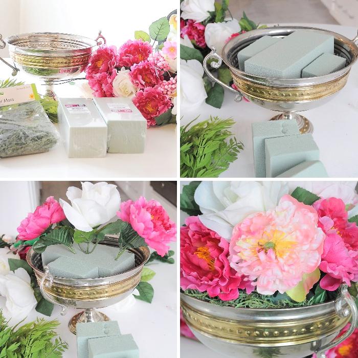 ideas originales de decoración de mesas DIY paso a paso, como adornar la mesa con flores