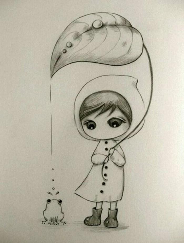 dibujo artistico super tierno, dibujos a lapiz fáciles para principiantes, galería con más de 40 imagines