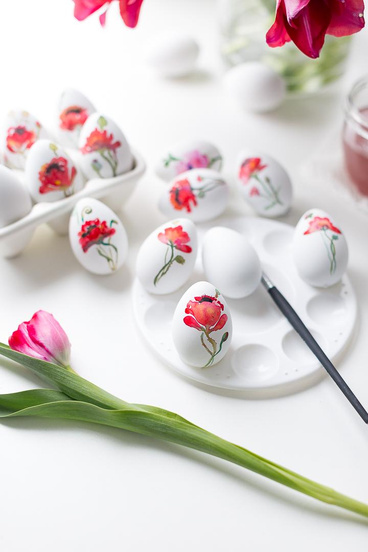 magníficas ideas sobre como decorar huevos de pascua, huevos decorados dibujos de flores