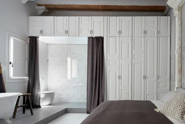 bonitas ideas de dormitorios matrimonio decorados en estilo minimalista, decoración en blanco y gris
