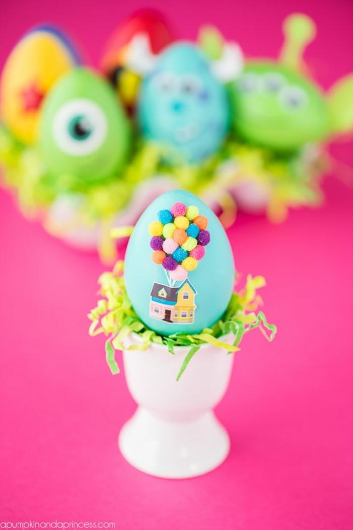 ideas de manualidades huevos de pascua coloridos, huevos en colores pasteles con decoracion super original