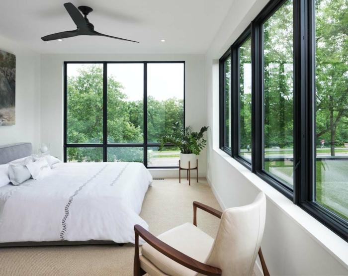 fotos de habitaciones de matrimonio decoradas según las últimas tendencias, cómo decorar un dormitorio en estilo minimalista
