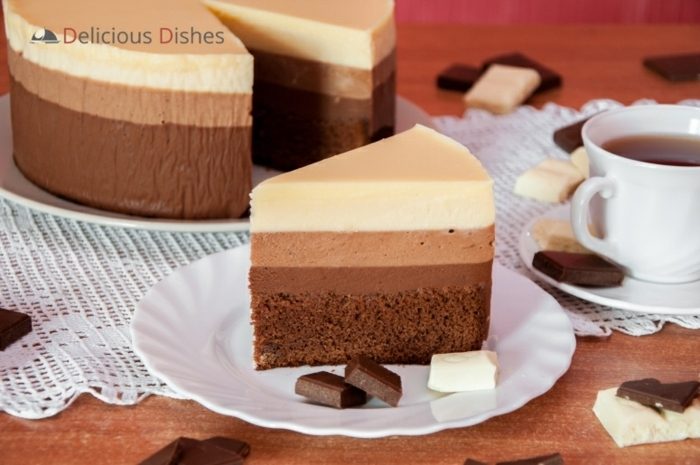 receta tarta tres chocolates original, fotos de tartas de chocolate irresistibles, tartas 3 chocolates