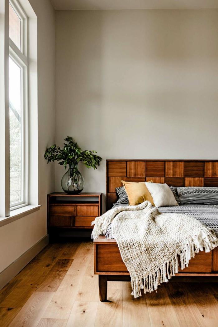 decoracion habitacion de madera, habitaciones modernas decoradas en estilo minimalista