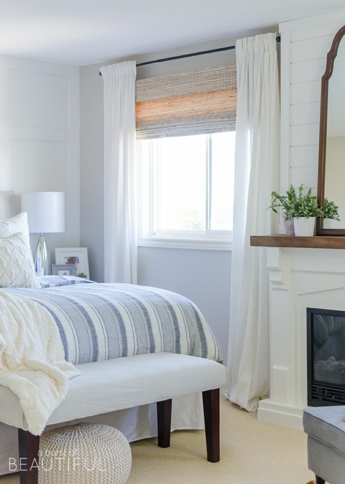 preciosa decoración habitación en blanco, habitaciones modernas decoradas con mucho encanto