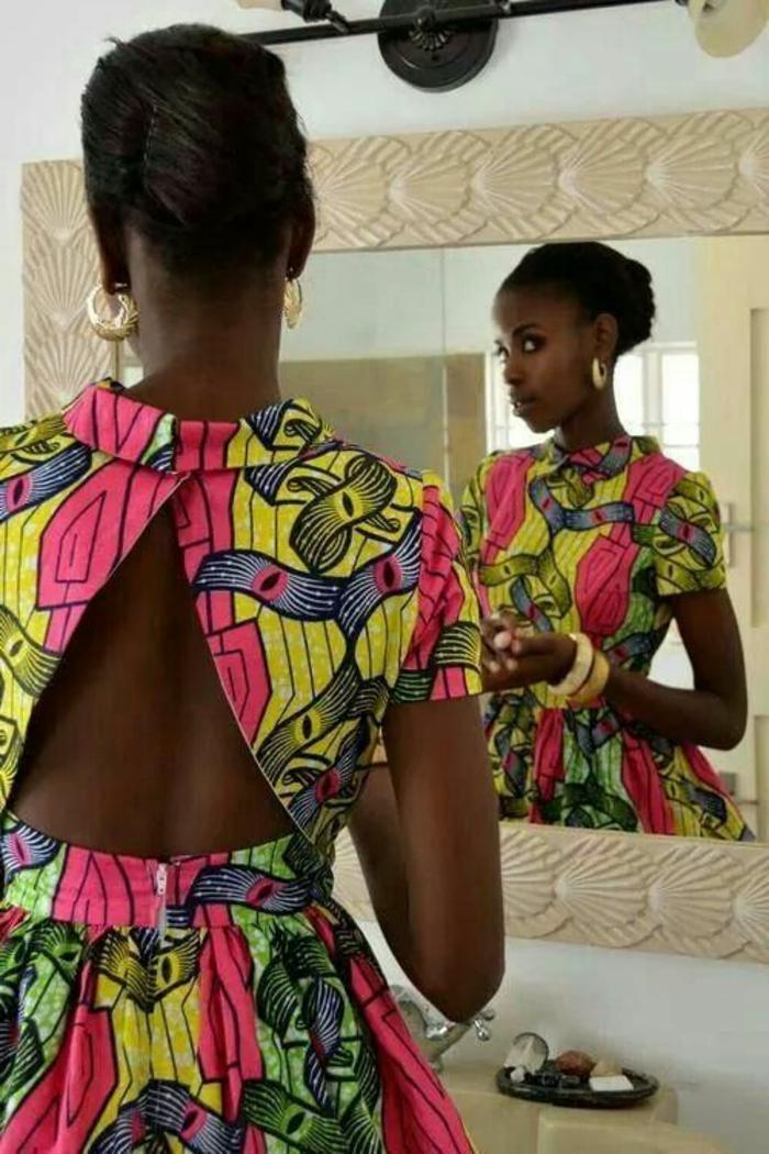 galería de fotos de vestidos africanos mujer super bonitos, vestido corto en colores llamativos