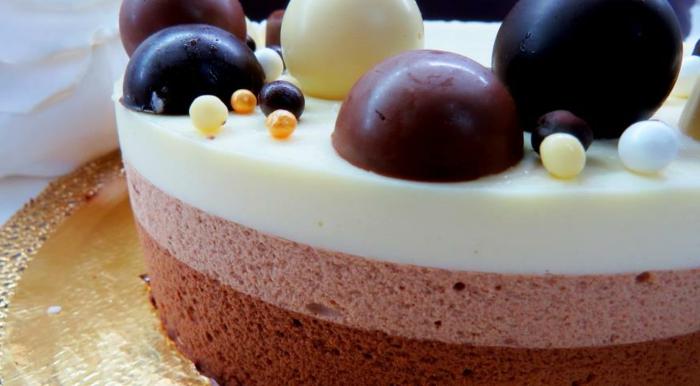 bonita presentación de tarta de chocolate sin horno, tartas de chocolate mousse en 80 imagines