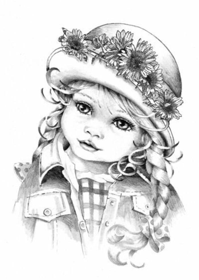dibujar con trazos trucos y consejos, dibujos sombreados originales, pequeña chica dibujada con lápiz
