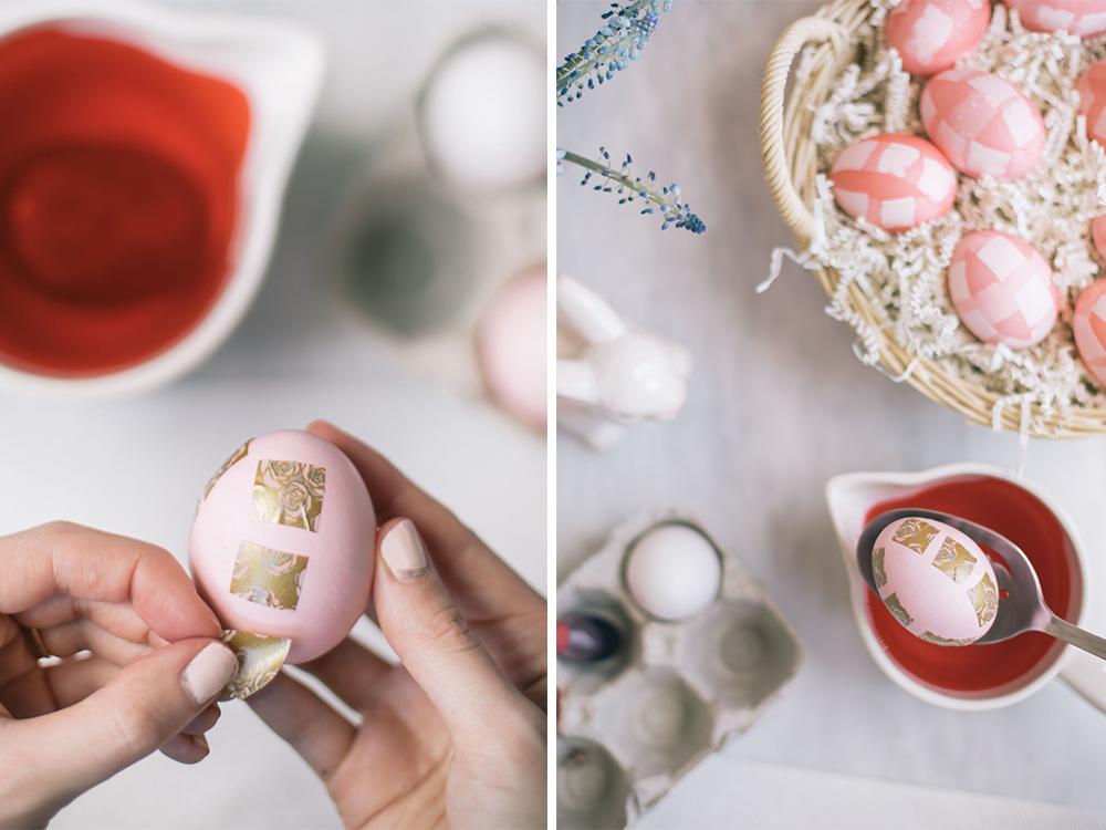 ideas sobre cómo hacer huevos de pascua decorados, huevos originales en colores claros