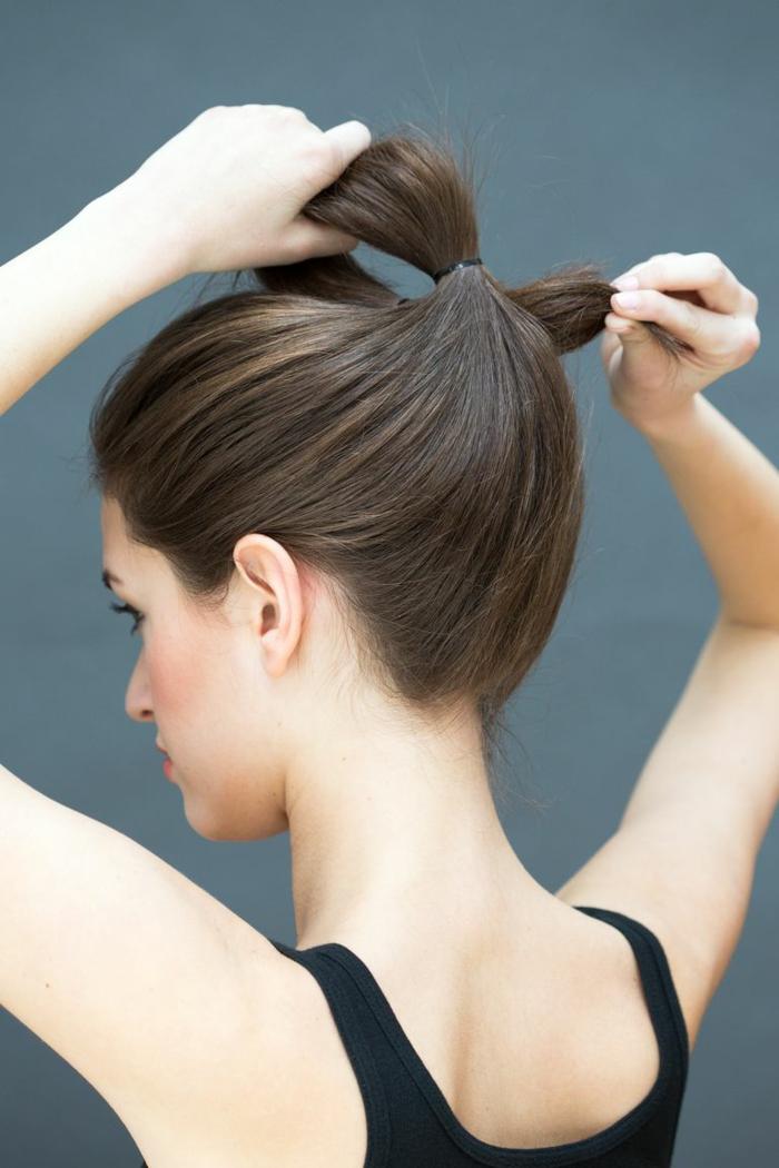 como hacer un moño alto con mucho volumen paso a paso, las mejores propuestas de peinados faciles pelo largo