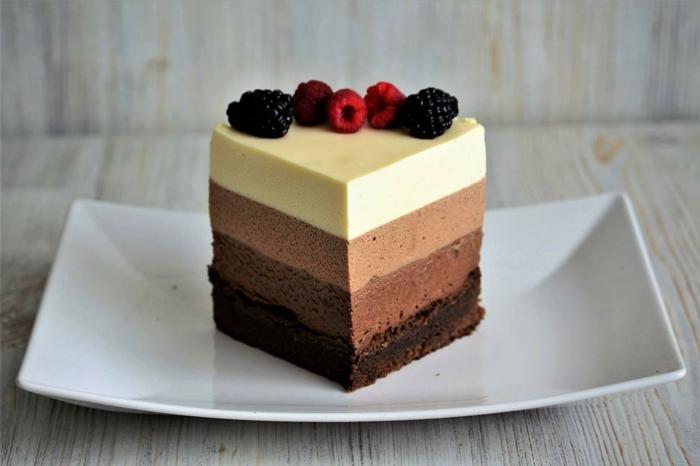 ricas propuestas de tartas rápidas y fáciles para hacer en casa, tarta mousse de chocolate