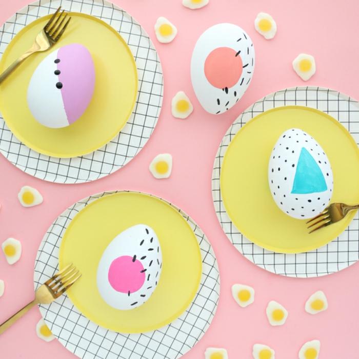 decoración de huevos de Pascua con decoupage, técnicas originales para decorar huevos con telas