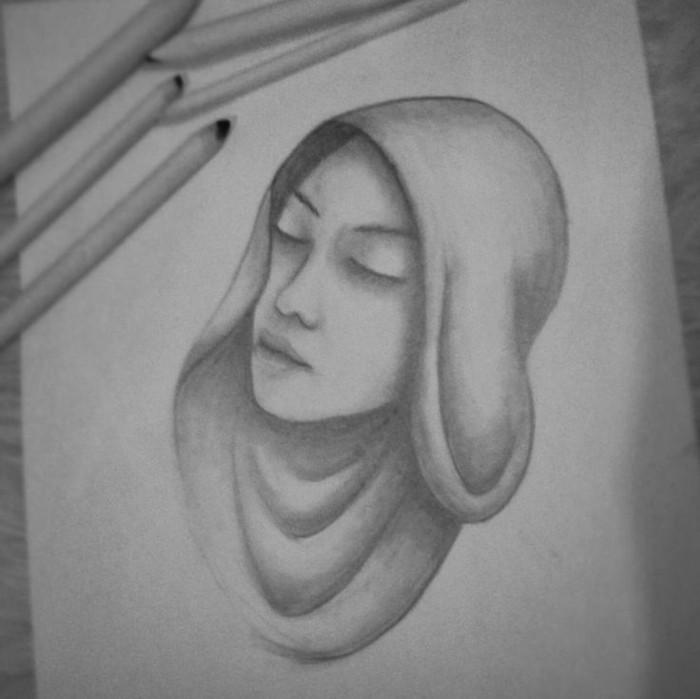 dibujos sombreados super bonitos y originales, ideas de dibujos para principiantes para descargar