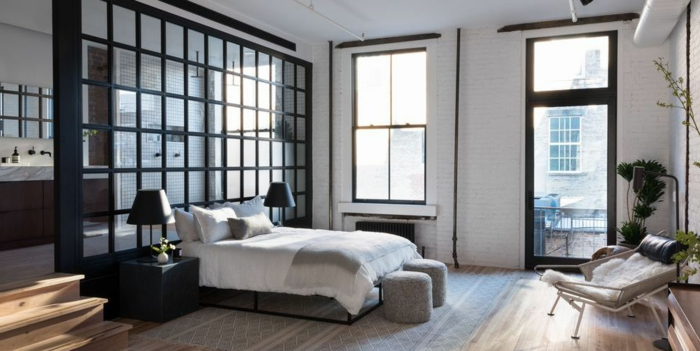 habitaciones matrimonio decoradas con mucho estilo, espacio moderno decorado en blanco y negro