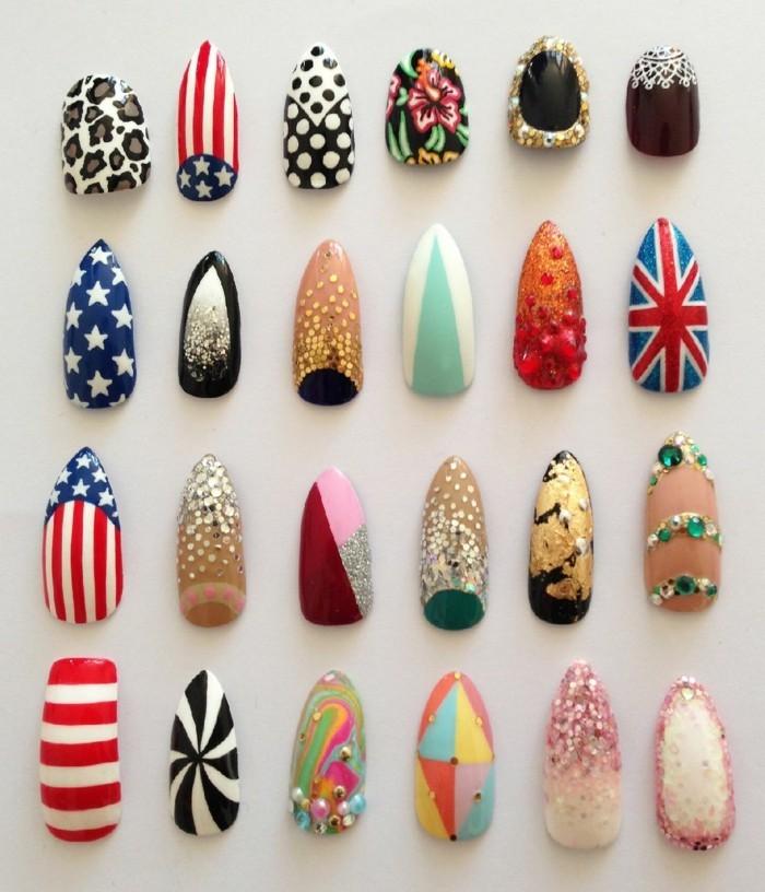 las ideas más extravagantes de uñas decoradas con piedras, diseños de uñas 2017 en imagines