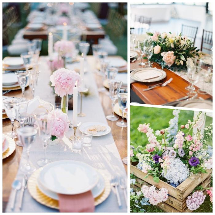 que poner encima de una mesa de comedor, cómo decorar mesas de primavera, centros de mesa en estilo vintage