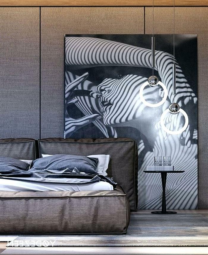 decoración habitación en gris y marrón, fotos de habitaciones matrimonio modernas de diseño