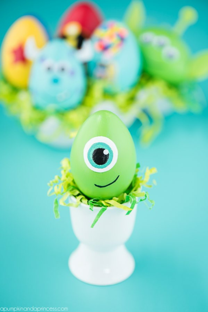 decorar huevos de pascua paso a paso, huevos de pascua en bonitos colores, manualidades para pascua bonitas