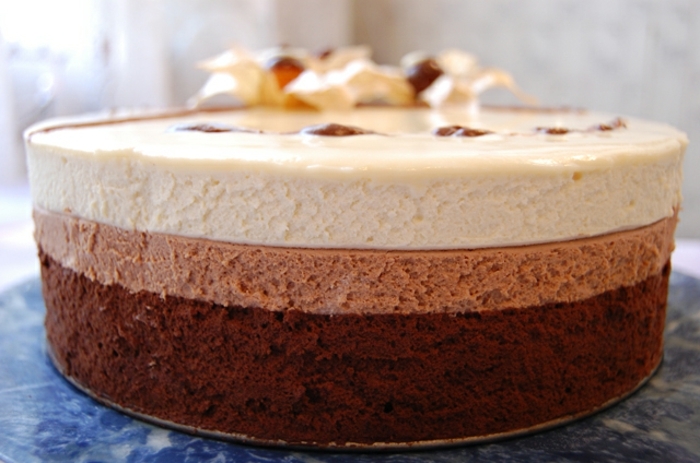 cómo hacer tarta mousse de chocolate, tarta esponjosa de textura mousse con un sabor irresistible