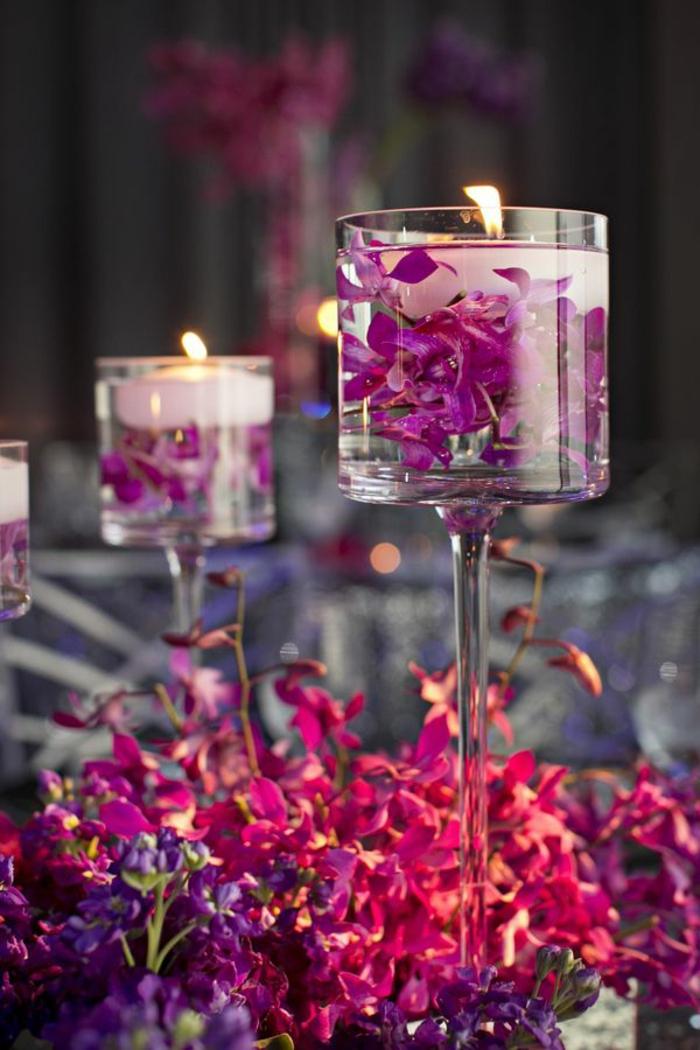 ideas sobre que poner encima de una mesa de comedor para una cena romántica, candelabros super bonitos