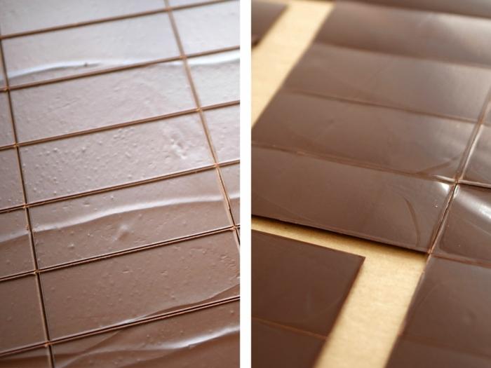 tutoriales en fotos sobre como hacer tarta de tres chocolates caseras originales, tarta a las tres chocolates