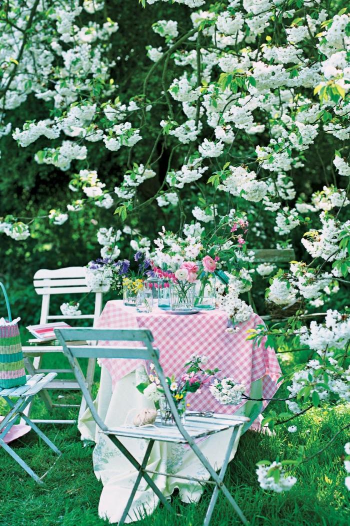 originales ideas sobre cómo decorar la mesa en estilo provenzal, que poner encima de una mesa de comedor