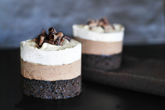 mini tartas ricas y fáciles de hacer con tres cremas de chocolate, cuáles son ingredientes tarta tres chocolates