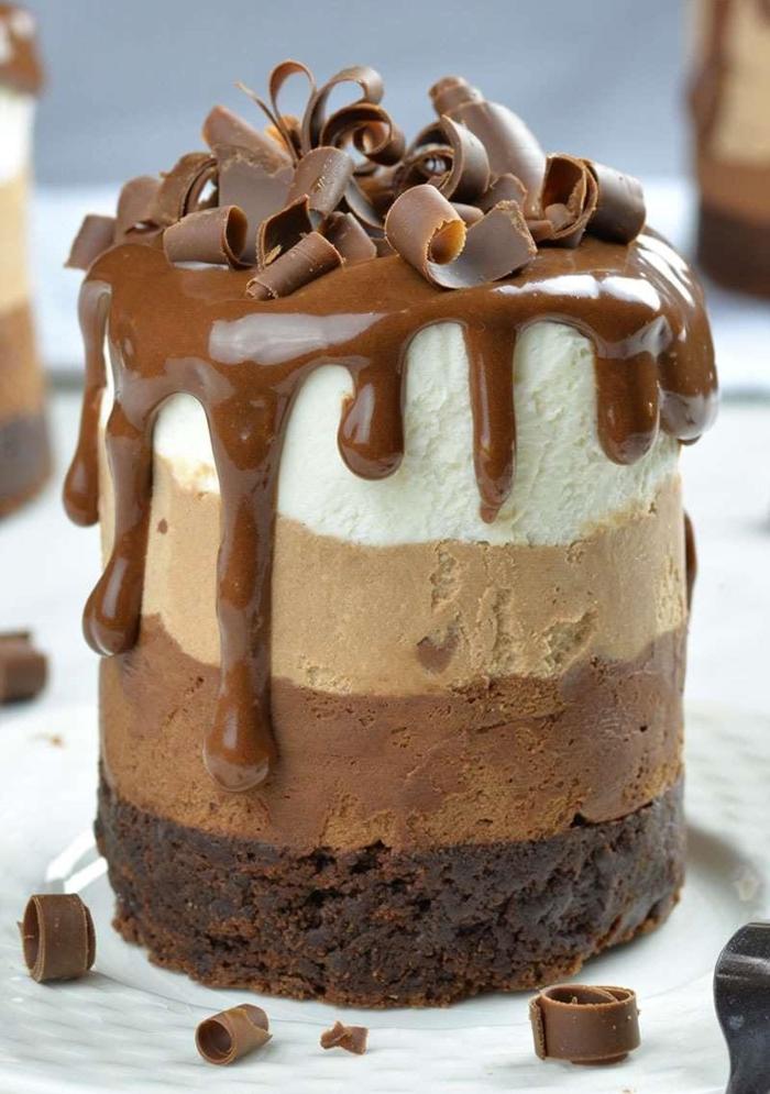 alucinantes ideas de mini tartas caseras de chocolate, pasteles de chocolate, ingredientes tarta tres chocolates