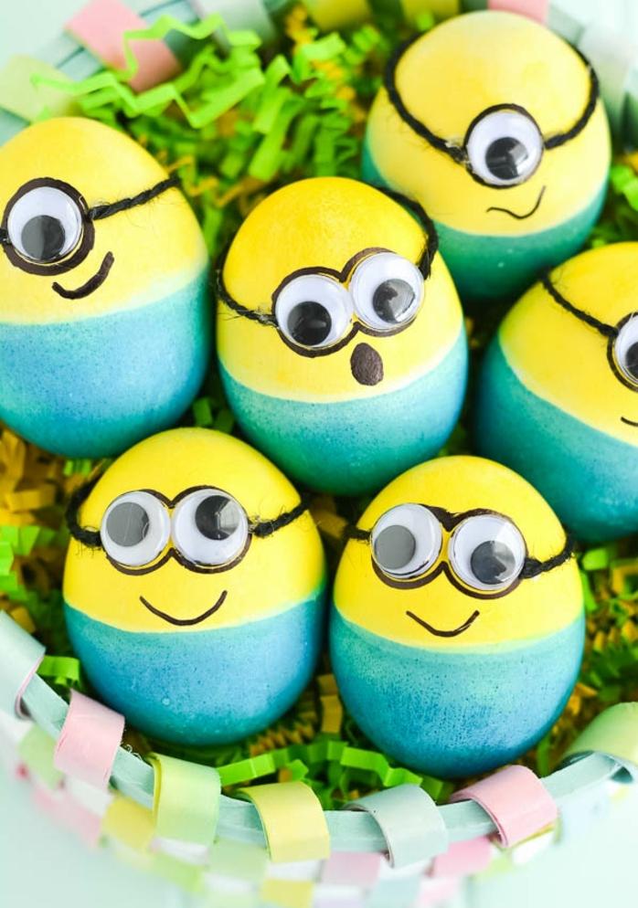ideas originales de manualidades de pascua para niños y adultos, ideas de huevos de Pascua personalizados