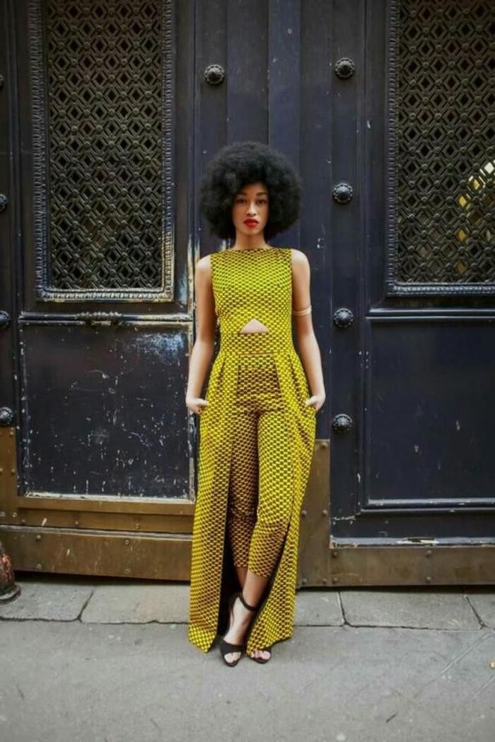 vestidos africanos mujer de diseño moderno, atuendos estampados para la primavera y el verano