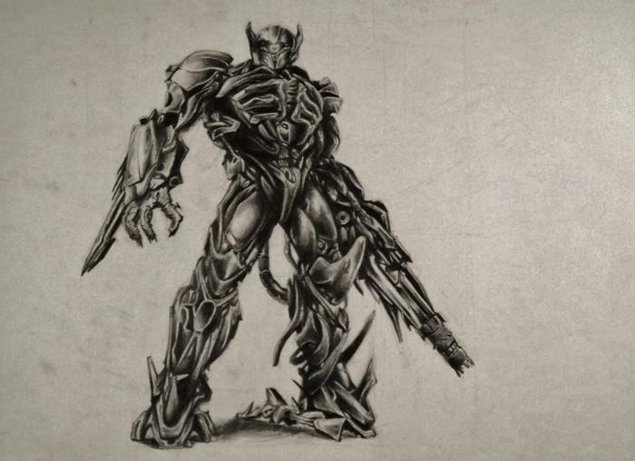 alucinantes ideas de dibujos para dibujar a lapiz, dibujo en blanco y negro de un monstruo