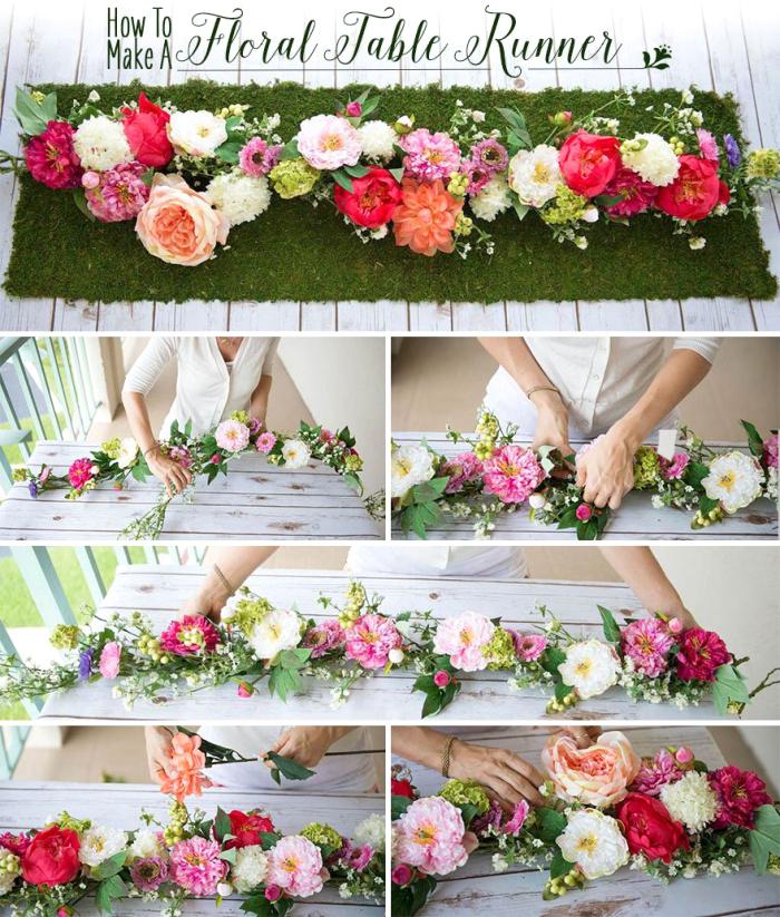 ideas sobre decorar una mesa con flores, decoracion de mesa para la navidad, centro de mesa DIY