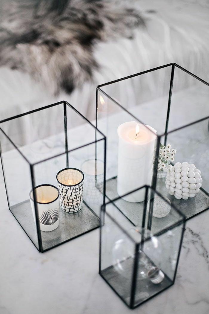preciosas ideas de centros de mesa en estilo escandinavo, decoracion de mesa navideña