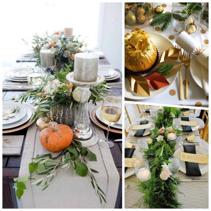 adorables propuestas de decoracion mesas navidad, decorar la mesa con detalles naturales