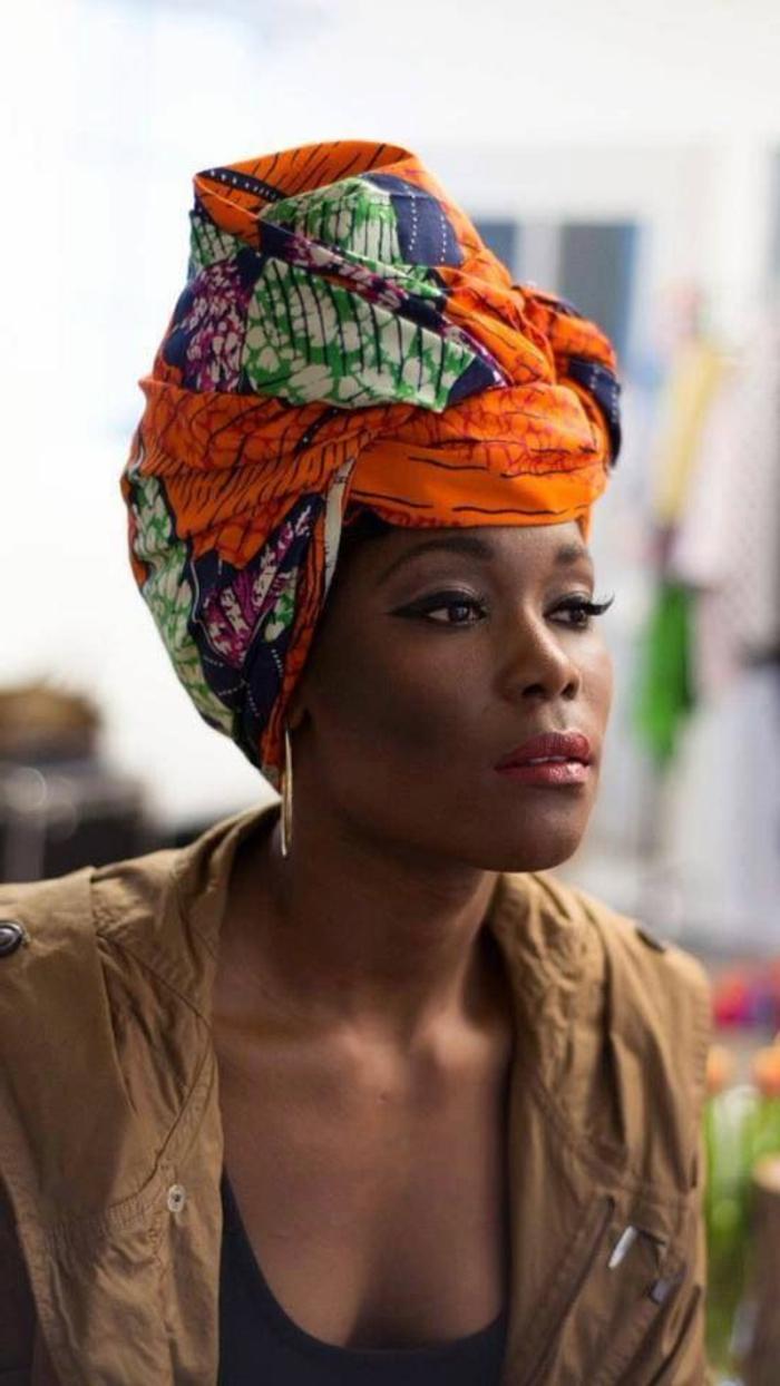 accesorio y ropa colorida, vestidos africanos mujer originales, precioso pañuelo para la cabeza