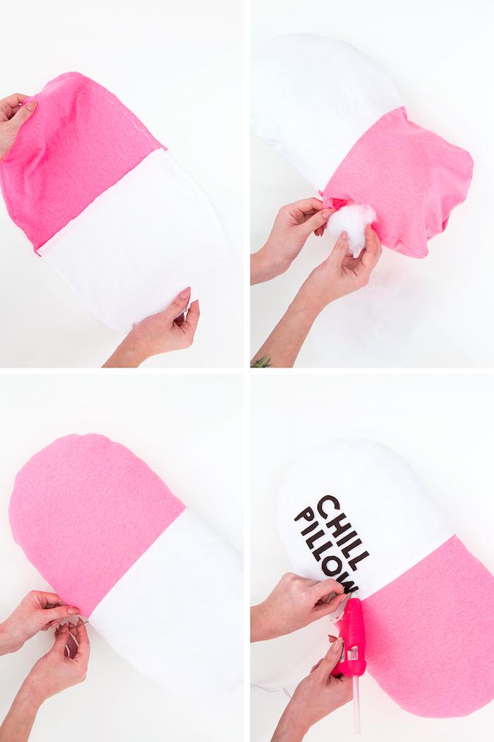 ejemplos de regalos originales para hacer en casa, cómo hacer una mini almohada casera paso a paso
