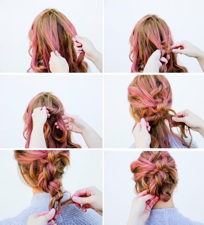 peinados pelo largo con trenzas, tutoriales de peinados originales paso a paso, cabello trenzado