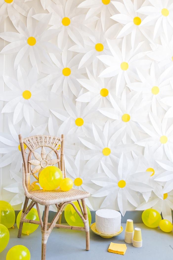 paredes decoradas con flores, alucinantes ideas de decoración para fiestas de cumpleaños