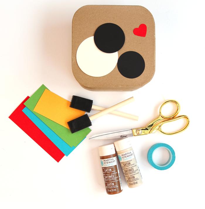 caja decorativa en el estilo de Instagram, materiales necesarios, ideas de regalos hechos a mano para tu familia y amigos