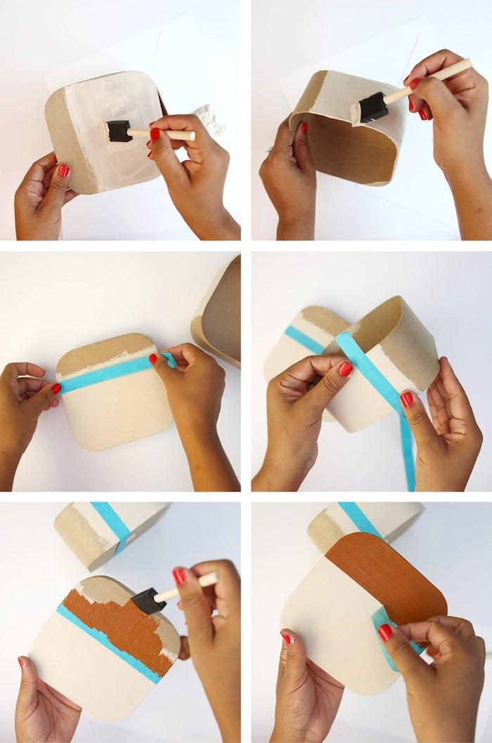 como hacer regalos decorativos para tus amigos, tutoriales de regalos caseros fáciles de hacer, caja decorada en estilo Instagram