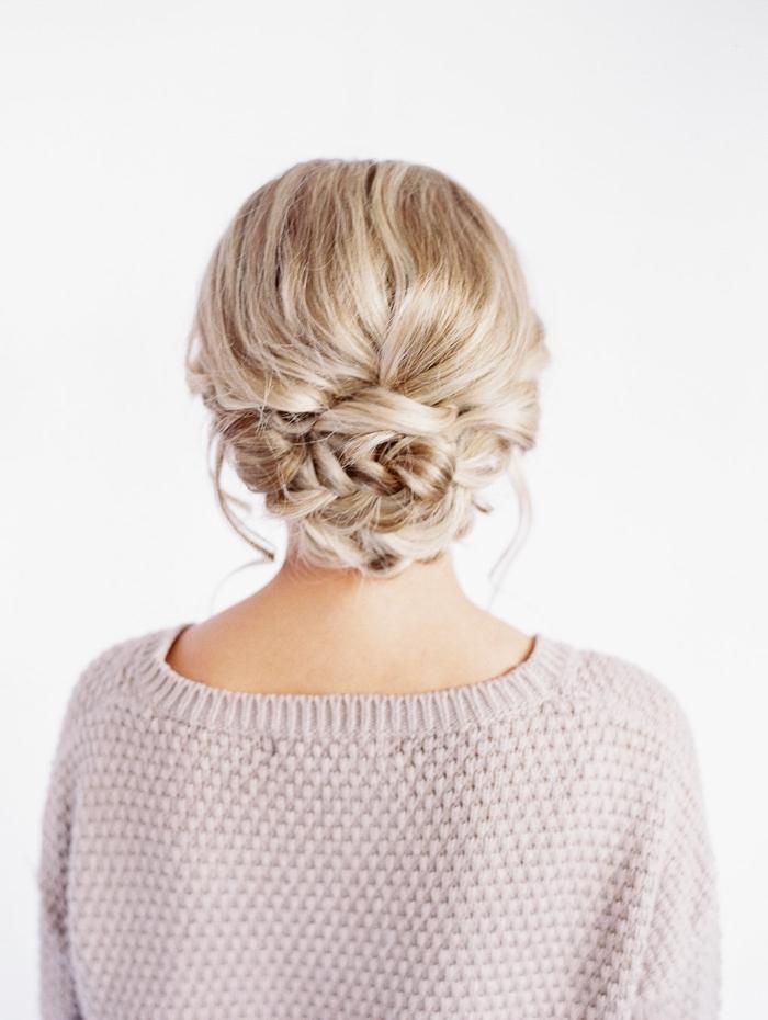 peinados con trenzas originales y sencillos, moño trenzado super elegante y bonito paso a paso