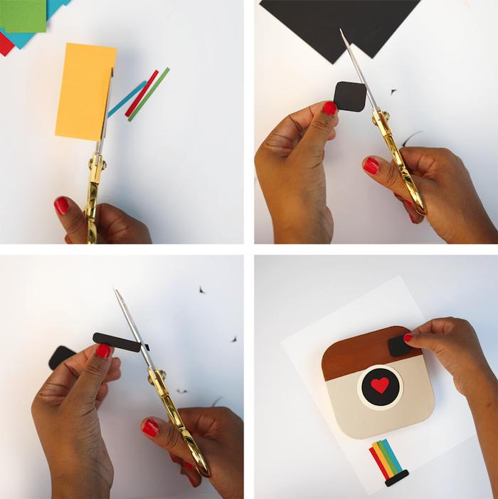 las mejores ideas de regalos DIY con tutoriales paso a paso, regalos de cartulina, caja personalizada para llenar de fotos