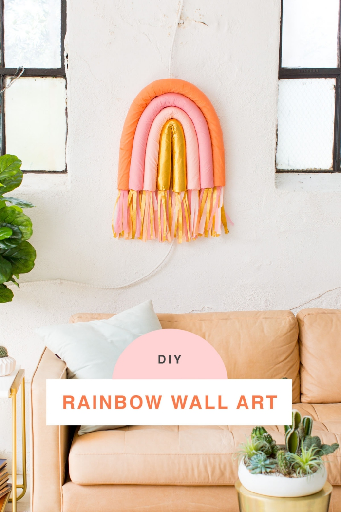 hermosas propuestas de decoracion de pared paso a paso, coloridas ideas para decorar la casa en primavera